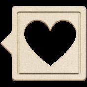 Grab Bag #13 Templates- Heart Bubble 1 Chipboard
