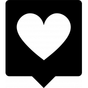 Grab Bag #13 Templates- Heart Bubble 2 Outline