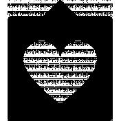 Grab Bag #13 Templates- Heart Bubble 3 Outline