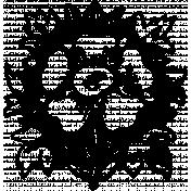 Free Spirit Word Art- Flower Stamp
