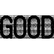 Free Spirit Word Art- Good