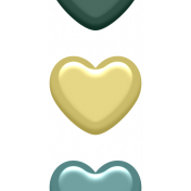 Day of Thanks Elements- Enamel Hearts