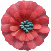 Day of Thanks Elements- Red Flower
