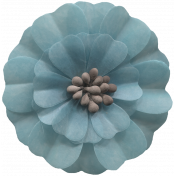 Day of Thanks Elements- Blue Flower