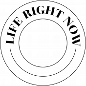 Free Spirit Word Art- Life Right Now Circle