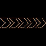Free Spirit Elements- Stitched Arrow 1