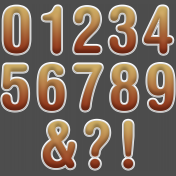 BYB Sticker Alpha- Brown Numbers
