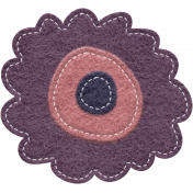 Winter Mood Elements- Felt Flower 3