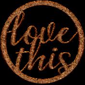 Elegant Autumn Mini Kit 3- Cork Love Circle