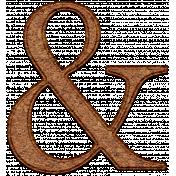 Christmas Cork Piece Ampersand