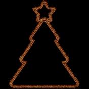 Christmas Cork Piece Christmas Tree 2