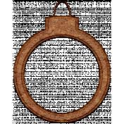 Christmas Cork Piece Ornament 1