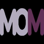 New Day Baby Word Art- Mom