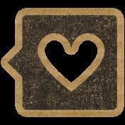 HFH Cardboard Sticker- Heart Bubble 1