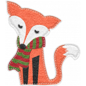 Home For The Holidays Elements- Felt Fox