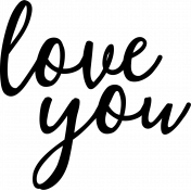 Valentine's Cut Files- Love You