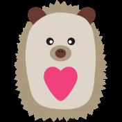Valentine's Clip Art- Hedgehog