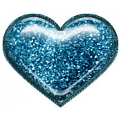 Home For The Holidays Elements- Glitter Heart Blue