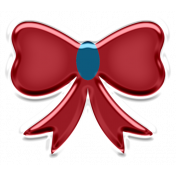 Home For The Holidays Elements- Sticker Bow