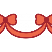Home For The Holidays Elements- Sticker Print Bow 1
