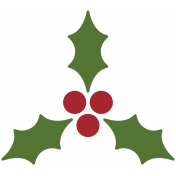 Home For The Holidays Elements- Sticker Print Holly