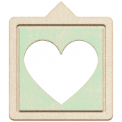 Baby's First Christmas Elements- Chipboard Heart Bubble 3