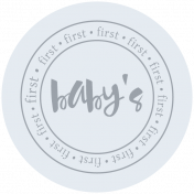 Baby's First Christmas Elements- Circle 4