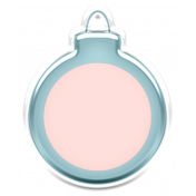 Baby's First Christmas Elements- Sticker Ornament 2