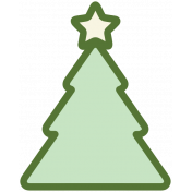 Baby's First Christmas Elements- Sticker Print Tree