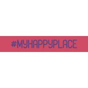 Free Spirit- Hashtag My Happy Place Label Print