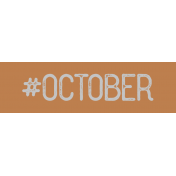 Free Spirit- Hashtag October Label Print