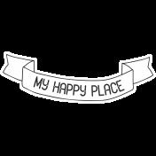 Free Spirit- Hashtag My Happy Place Banner Print