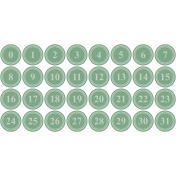 Tea And Toast Print Numbers- Green
