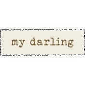 Tea & Toast Elements Kit- Word Strip My Darling