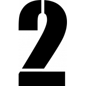 Cut Files- Number Stencil 2