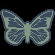 Fresh Elements Kit- Print Sticker Butterfly
