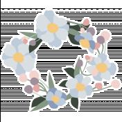 Fresh Elements Kit- Print Sticker Floral Wreath