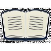 A Mug & A Book Elements- Enamel Book Open