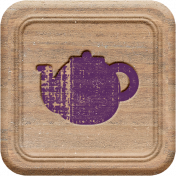 A Mug & A Book Elements- Wood Square 4
