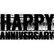 Anniversary Word Art- Happy Anniversary