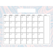 The Good Life April Calendar 85x11 Blank