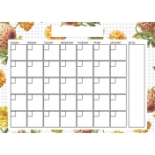 Seriously Floral 2 Calendars- May Floral Calendar 5x7 Blank