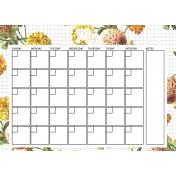 Seriously Floral 2 Calendars- May Floral Calendar 5x7