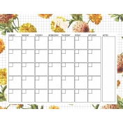 Seriously Floral 2 Calendars- May Floral Calendar 8x11