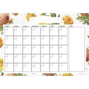 Seriously Floral 2 Calendars- May Floral Calendar A4 Blank