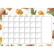 Seriously Floral 2 Calendars- May Floral Calendar A4