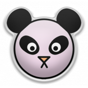 The Good Life- May Elements- Puffy Panda Sticker Lilac