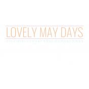 The Good Life- May Elements- Tag 1
