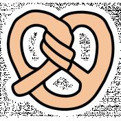 The Good Life- May Elements- Sticker Pretzel