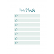 The Good Life June Pocket Card 02 Month 3x4